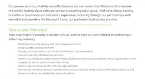 Security Reliability Datasheet