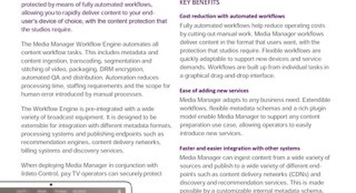 Datasheet: Irdeto Media Manager