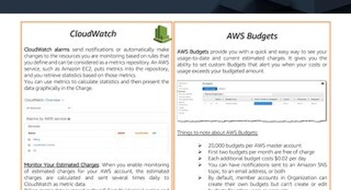 How to manage costs using Tags, Cloudwatch and Budgets