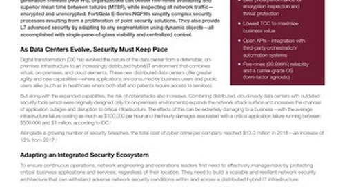 FortiGate NGFWs Provide Proactive and Transformative Data-Center Security for Business Continuity