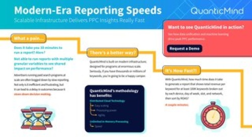 Modern Era Reporting Speeds with Scalable Infrastructure