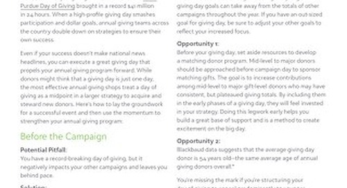 Using Giving Days to Strengthen Annual Giving
