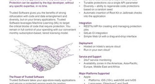 Datasheet: Irdeto Trusted Software