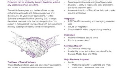 Datasheet: Irdeto Trusted Software