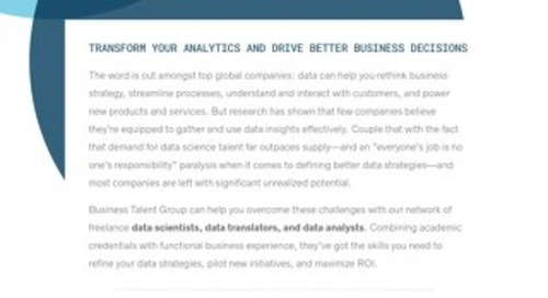 BTG Key Strengths: Data Science