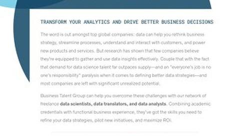 BTG Key Strengths: Data Science