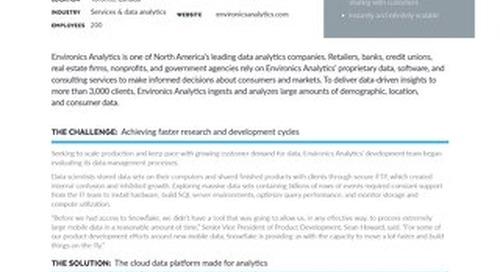Environics: Accelerating Data Monetization with Snowflake