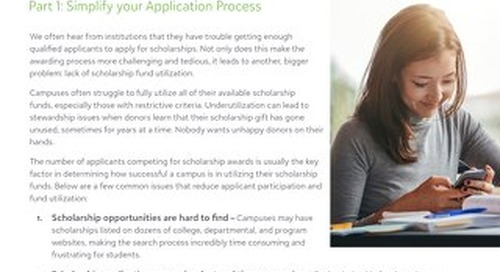 White Paper: Increasing Scholarship Applications - Part 1