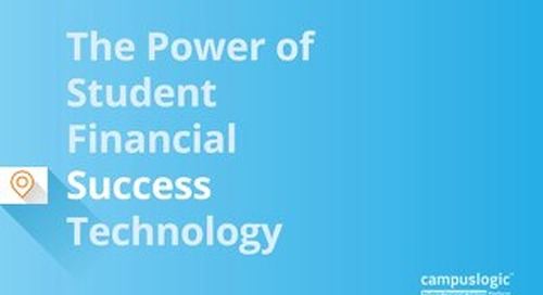 The Power of Student Financial Success Technology