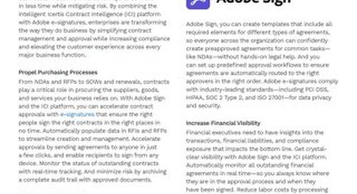 Solution Brief | Icertis Integration for Adobe Sign