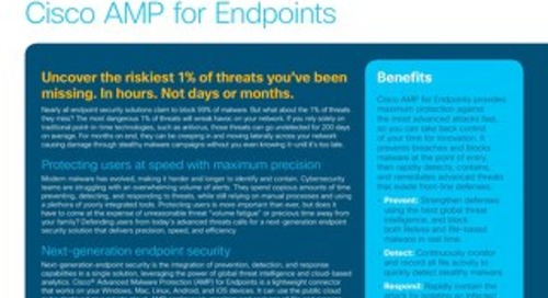 Cisco Advanced Malware Protection for Endpoints At-a-Glance