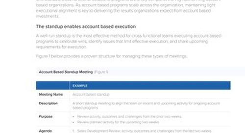TOPO Account-Based Standup Meetings  |  Engagio