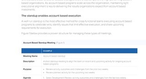 TOPO Account-Based Standup Meetings