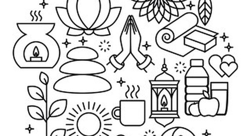 Adult Relaxation Coloring Page