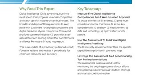 Measure Your Digital Intelligence Maturity