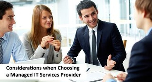 Choosing a Managed Services Provider eBook