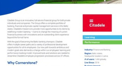 Citadele case study Learning suite 2019