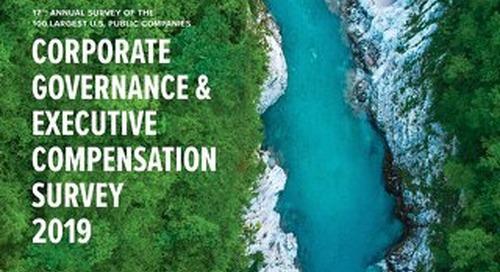 2019 Corporate Governance Executive Compensation Survey