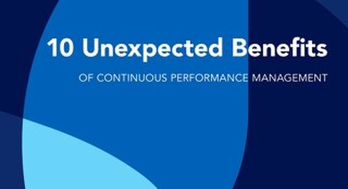 10 Unexpected Benefits of Continuous Performance Management
