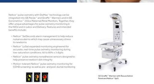 NELLCOR PULSE OXIMETRY MONITORING FOR NEWBORNS