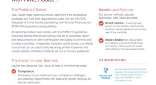 AML Assist Product Sheet