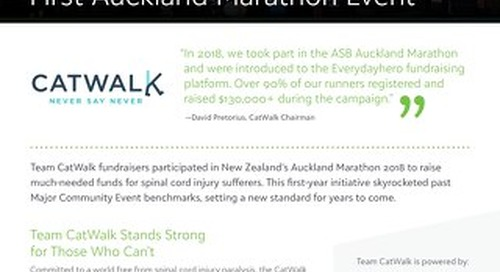 Team CatWalk & the Auckland Marathon