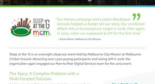 Campaign Spotlight: Sleep at the 'G