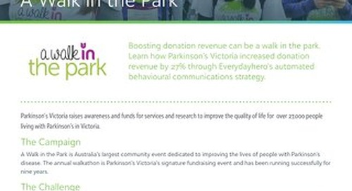 Parkinson's Victoria - A Walk in the Park