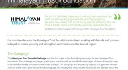 Himalayan Trust Foundation Found Fundraising Success with Virtual Events