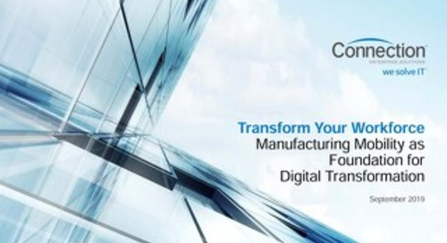 Connection Enterprise Manufacturing Mobility Webinar