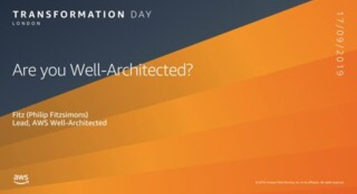 Are you Well Architected?