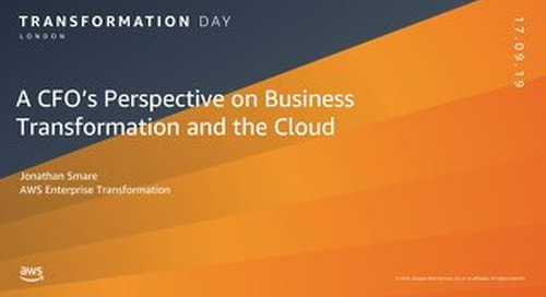 A CFOs perspective on business transformation and the Cloud