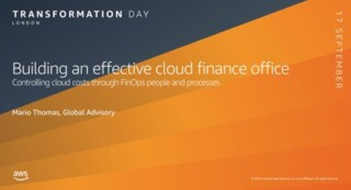 Building an effective Cloud Finance Office