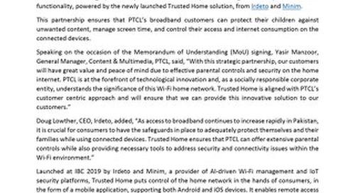 Press Release: PTCL Partnership