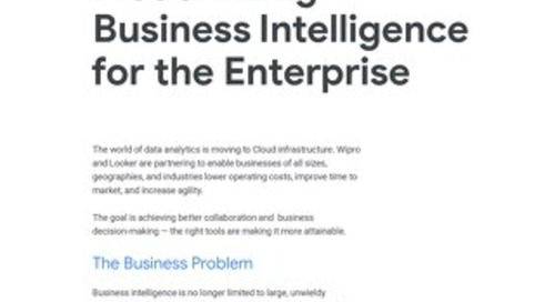 Looker & Wipro: Modernizing Business Intelligence for the Enterprise