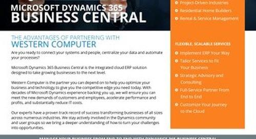 Dynamics 365 Business Central Info Sheet