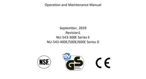 [Manual] LabGard ES AIR NU-543E Class II Microbiological Safety Cabinet (230V)