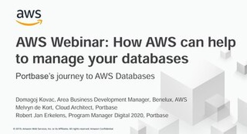 How AWS can help to manage your databases
