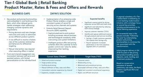 Tier-1 Global Bank - Retail Banking