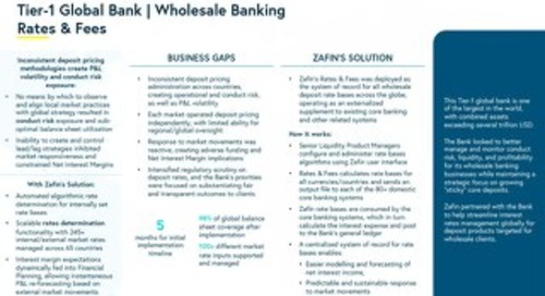 Tier-1 Global Bank - Wholesale Banking