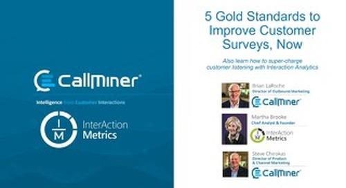 5 Gold Standards To Improve Customer Surveys, featuring InterAction Metrics