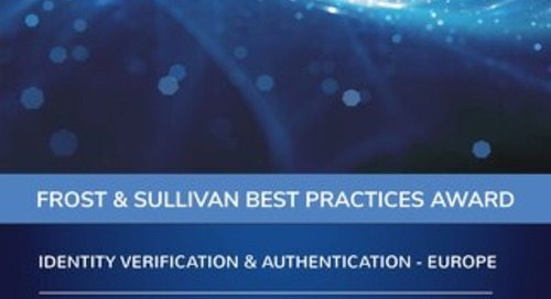 Frost and Sullivan Best Practices: Identity Verification and Authentication Report