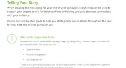 Telling Your Story Tipsheet