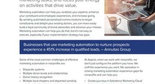 Personalize Constituent Engagement with Marketing Automation