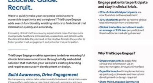 TrialScope Engage Embedded - Overview Flyer