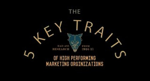 Five Key Traits of High Performing Marketing Organizations