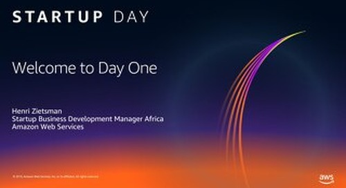 AWS Startup Day - Welcome to Day One