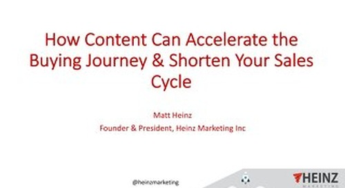 New Research: How Content Can Accelerate the Buying Journey & Shorten Your Sales Cycle