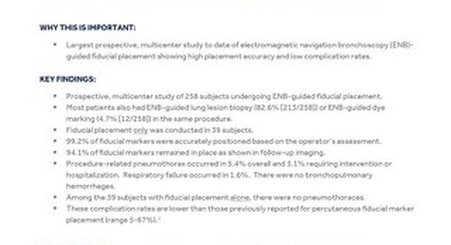 Clinical Summary: Fiducial Marker Placement in The NAVIGATE Study