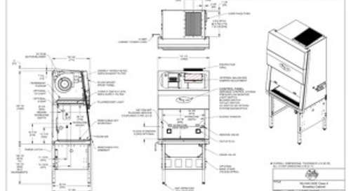 [Drawing] NU-540-300E Class II Microbiological Safety Cabinet